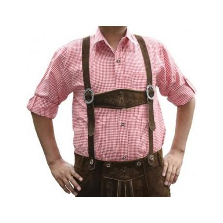 Trachten Hemd Ludwig Rot/weiss
