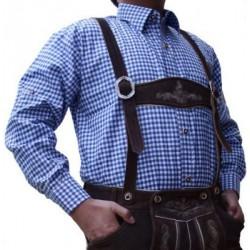 Trachten Hemd Ludwig Blau/weiss