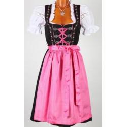 Midi Dirndl Tegernsee pink/schwarz