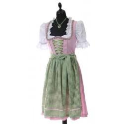 Midi Dirndl Ammersee grün/pink