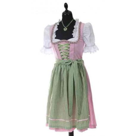 Dirndl robe Ammersee Vert/rose